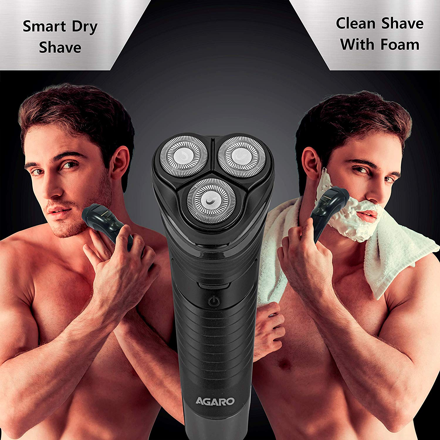 AGARO WD 751 Wet & Dry Electric Shaver with Pop-Up Trimmer, Rechargable