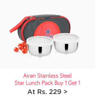 Airan Stainless Steel Star Lunch Pack Buy 1 Get 1