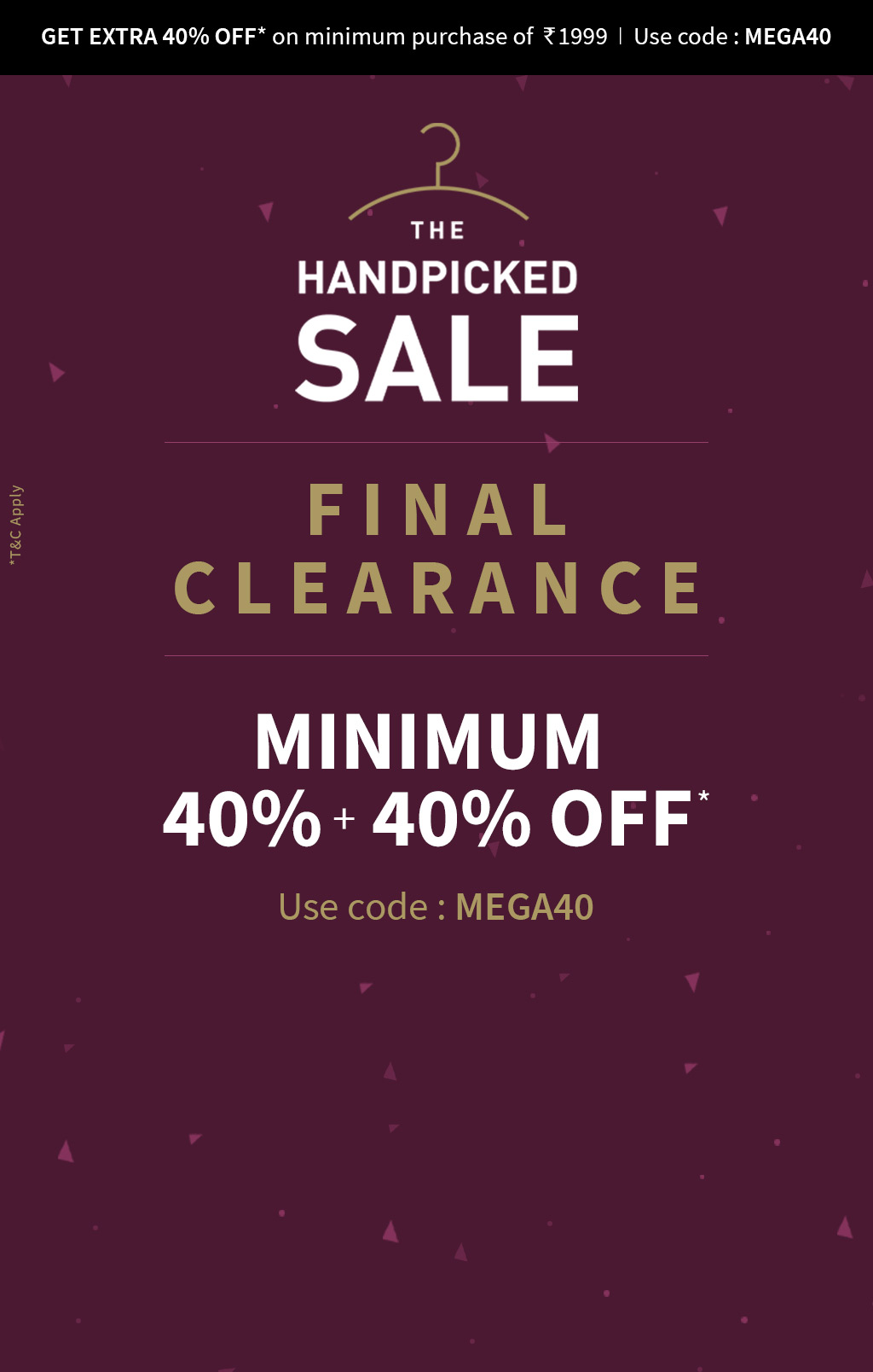 Ajio Final Clearance - Minimum 40% Discount + Extra 40% Discount On Rs.2000