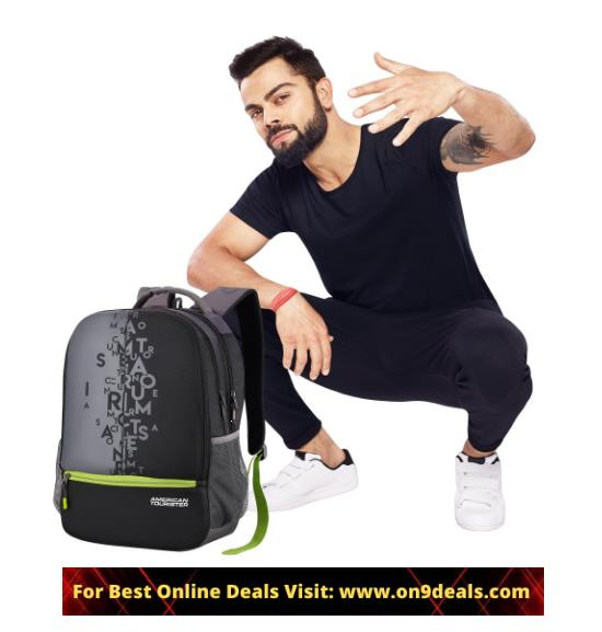 American Tourister 32 Ltrs Black Casual Backpack