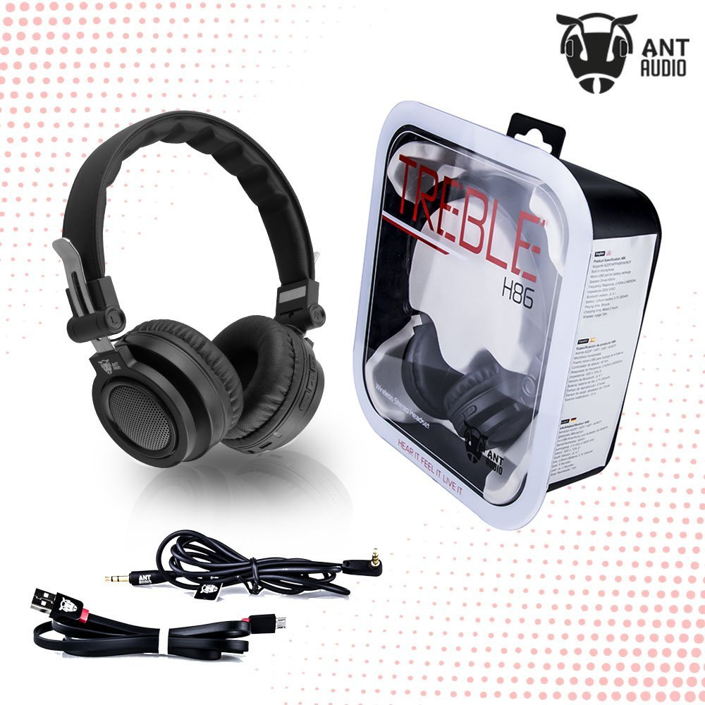 Ant Audio Treble H86 On-Ear Wireless Stereo Headset with Mic