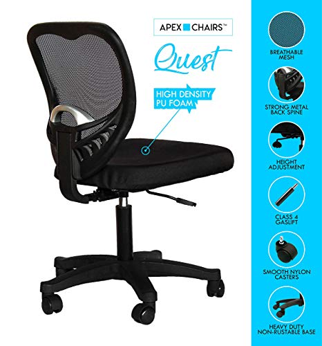 Apex Chairs Quest Medium Back revolving Office Chair