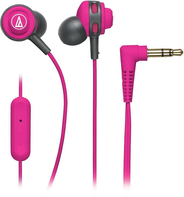 Audio Technica ATH COR150iS PK Wired Headset With Mic
