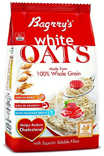 Bagrry's White Oats, 1kg Pouch with free Bagrry's White Oats 200g