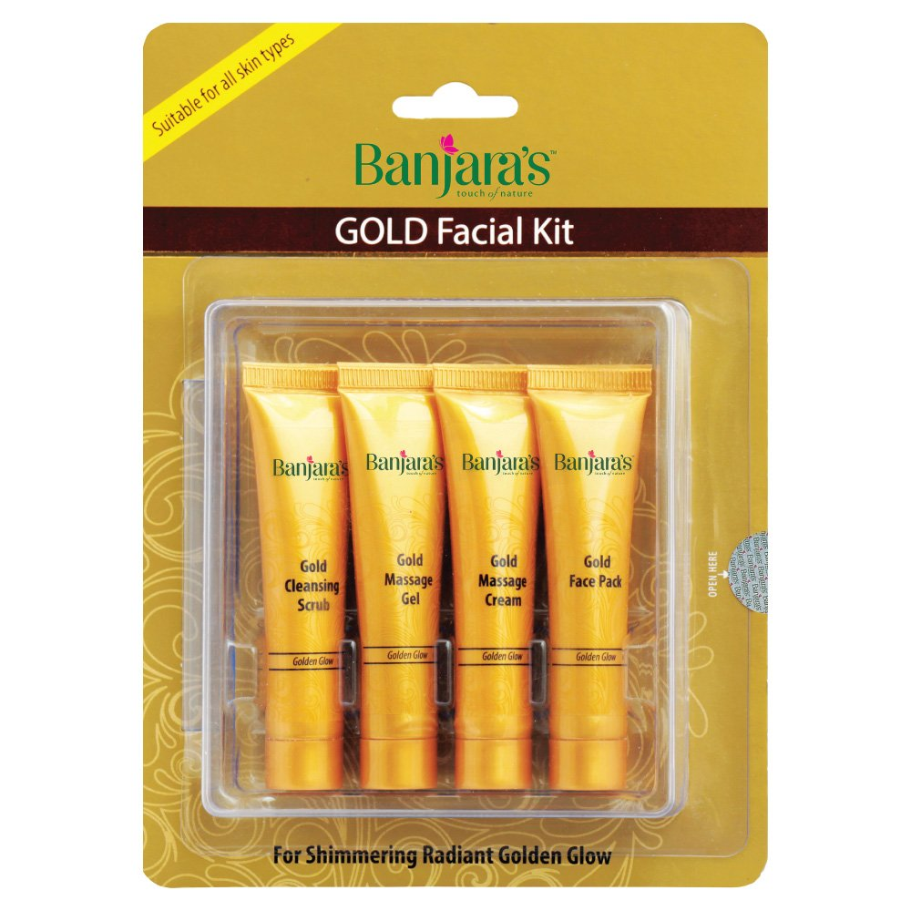 Banjara's Facial Kit, Gold (Pack of 4)