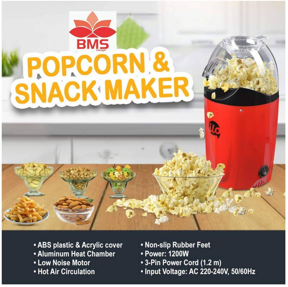 BMS Lifestyle ilo-101 Hot Air Popcorn Popper Electric Machine Snack Maker