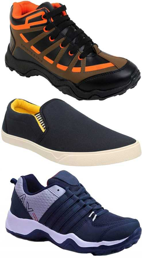 Chevit Men's Combo Pack Casual Shoes From Rs.373