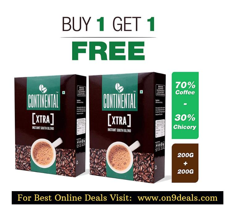 Continental XTRA Instant Coffee Powder 50g Jar ( BUY 1 + GET 1 FREE ) PACK OF 2