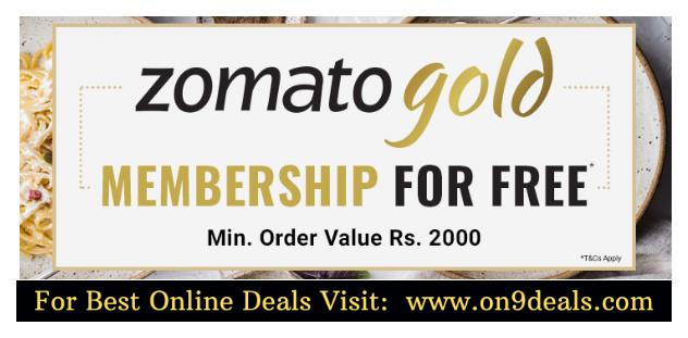 Coolwinks - Zomato Gold Membership For Free