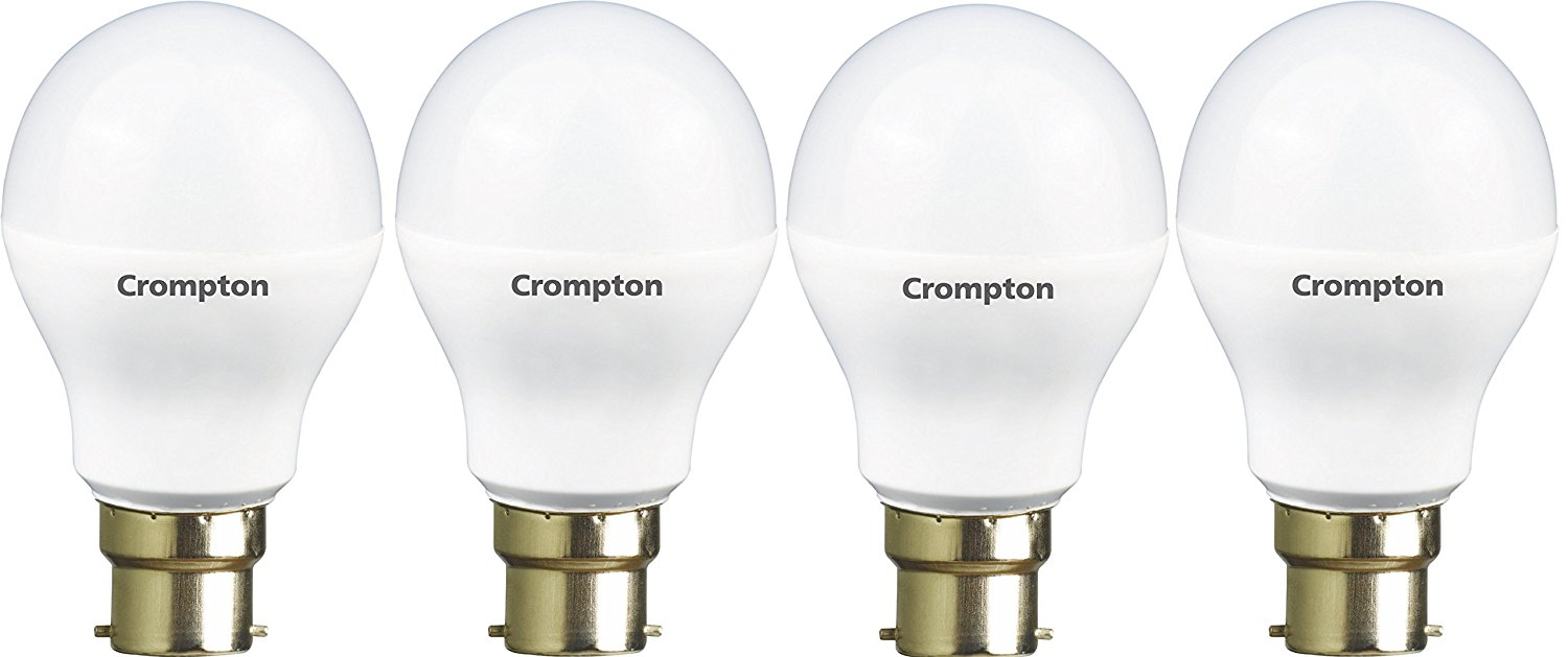 Crompton 9WDF B22 9-Watt LED Lamp (Cool Day Light and Pack of 4)