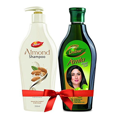 Dabur Almond Shampoo for Shiny Hair - 350ml (with Dabur Amla Hair Oil 450 ml Free)
