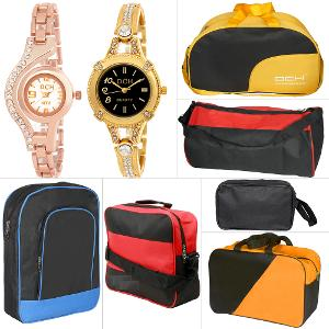 DCH Women's Wristwatches & Travel Bags Combo