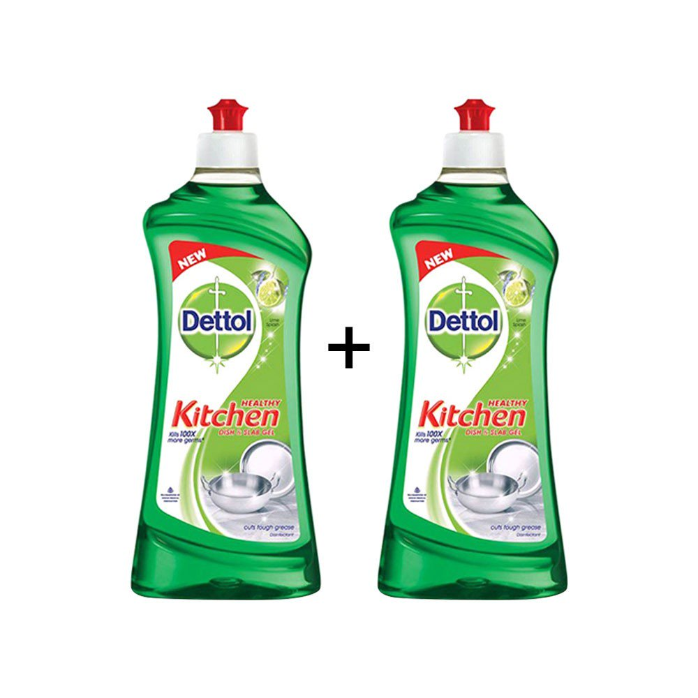 Dettol Lime Splash Dishwash Gel - Buy 1 Get 1 Free