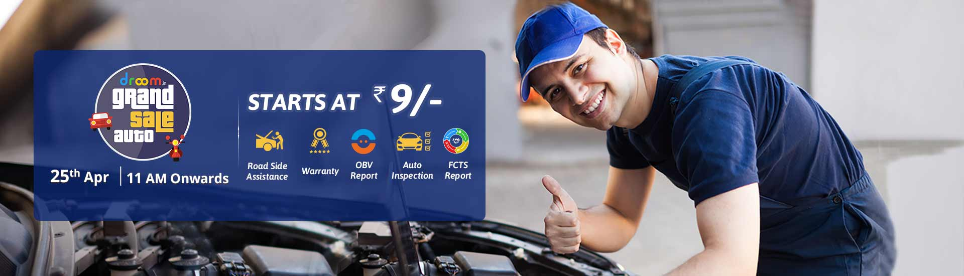 Droom Auto Service Sale Rs.9 or Rs.99
