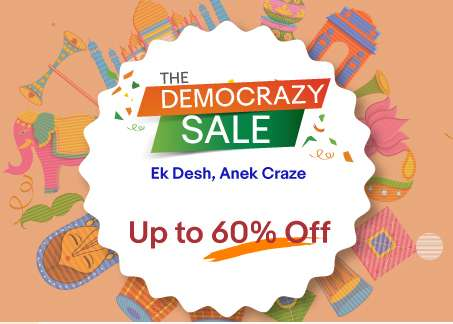 Ebay - The Democrazy Sale Upto 80% Discount + 10% Extra Discount + 10% Cashback With FreeCharge