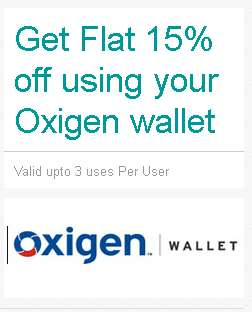 Ebay Oxigen Wallet Offer Rs. 300 off on Rs. 1000 (New Users), 15% off (All Users)