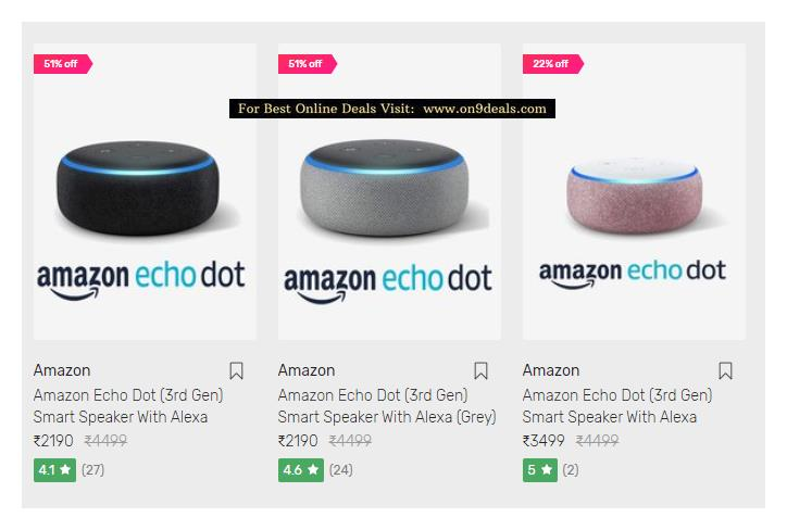 Echo Dot - Voice control your music, Make calls, Get news, weather & more