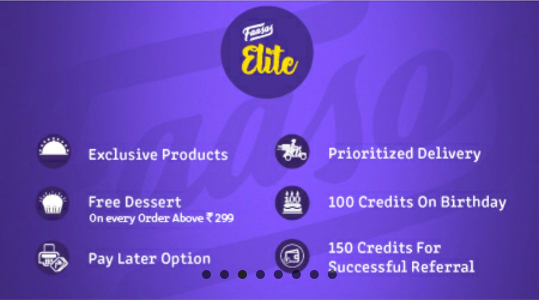 Faasos Elite Membership for 1 Year @ Rs.75 + Free Rs.125 Worth Credits