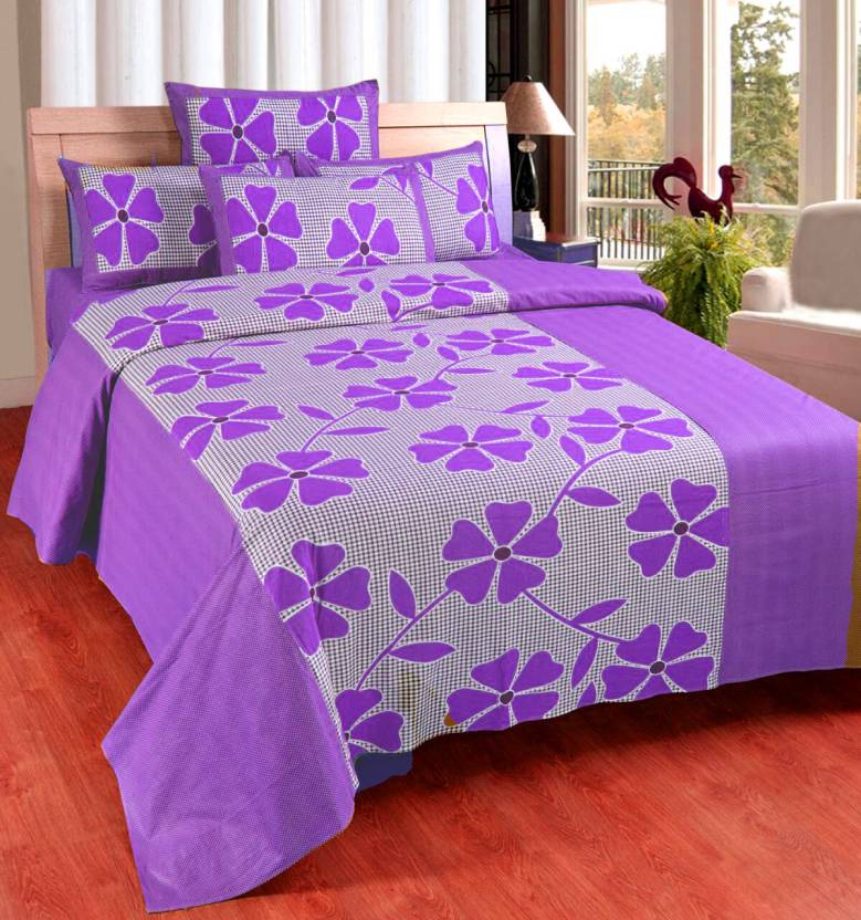 Flipkart - Zesture Cotton Floral Queen Sized Double Bedsheet Flat 60% Off