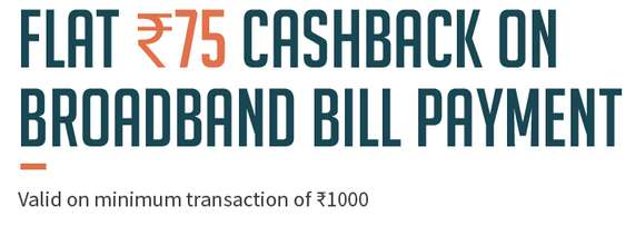 Freecharge - Flat Rs.75 cashback on Landline/Broadband/Gas Bill Payments above Rs.1000