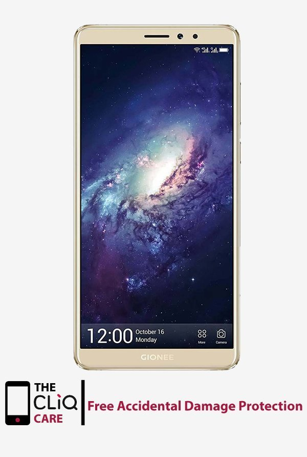 Gionee M7 Power 64 GB (Gold) 4 GB RAM, Dual SIM 4G 5000mAh + 10% Discount + Free Accidental Damage Protection
