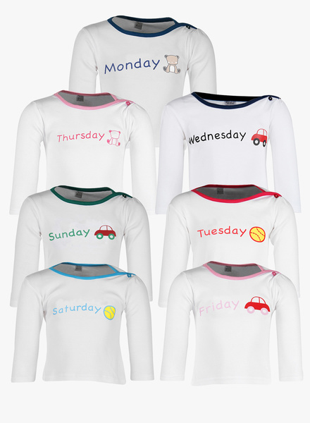 Gkiidz Multicoloured Casual Pack of 7 Tops