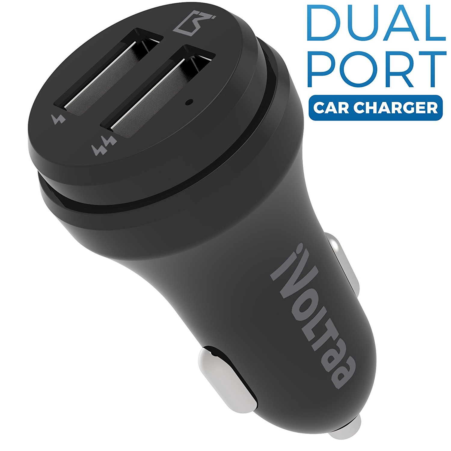 iVoltaa 2.4A Dual Port Car Charger With 1 year warranty