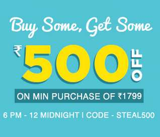 Jabong Buy Some Get Some Sale Upto 70% off + Rs.500 off on Rs.1799