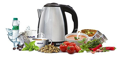 Kitchoff Stainless Steel Electric Automatic Kettle for Home & Office, 1.8L