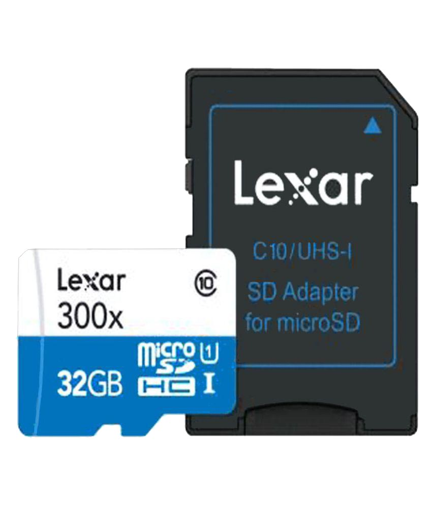 Lexar 32 GB Class 10 High Performance Memory Card with Adapter
