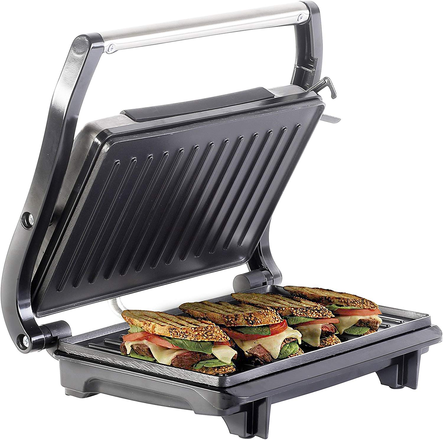 Lifelong LLPM1000 Panini 1000W 2 Slice Grill Sandwich Maker