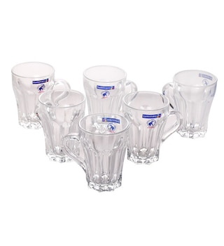 Luminarc Grafic Glass 160 ML Mugs - Set of 6