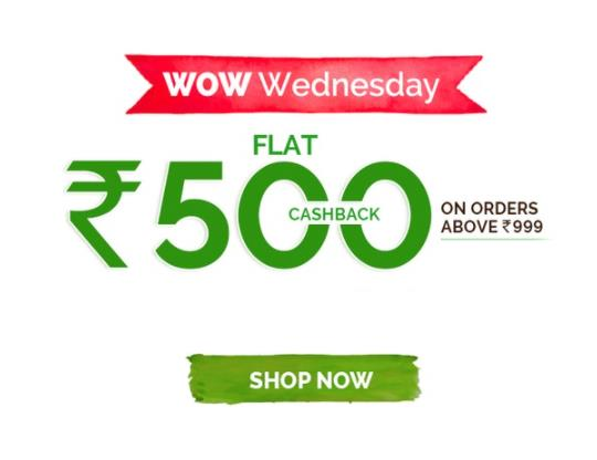 MamaEarth- Flat 500 Cashback on Orders of Rs 999