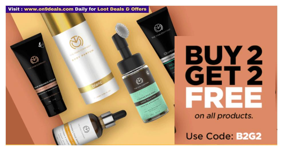 The Man Company Sale- Buy 2 Get 2 Free