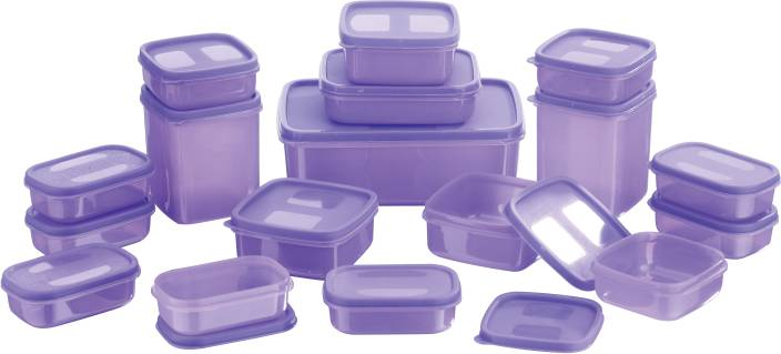 MasterCook 17 Pieces Polypropylene Food Storage Pack of 17,