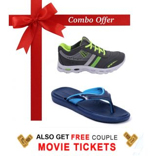 Nexa Combo of Shoes Slippers - Free Couple Movie Tickets Worth Rs.200