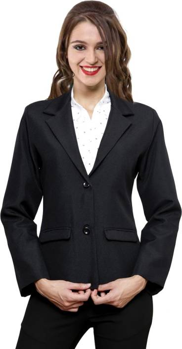 NGT Solid Single Breasted Formal Women's Blazer