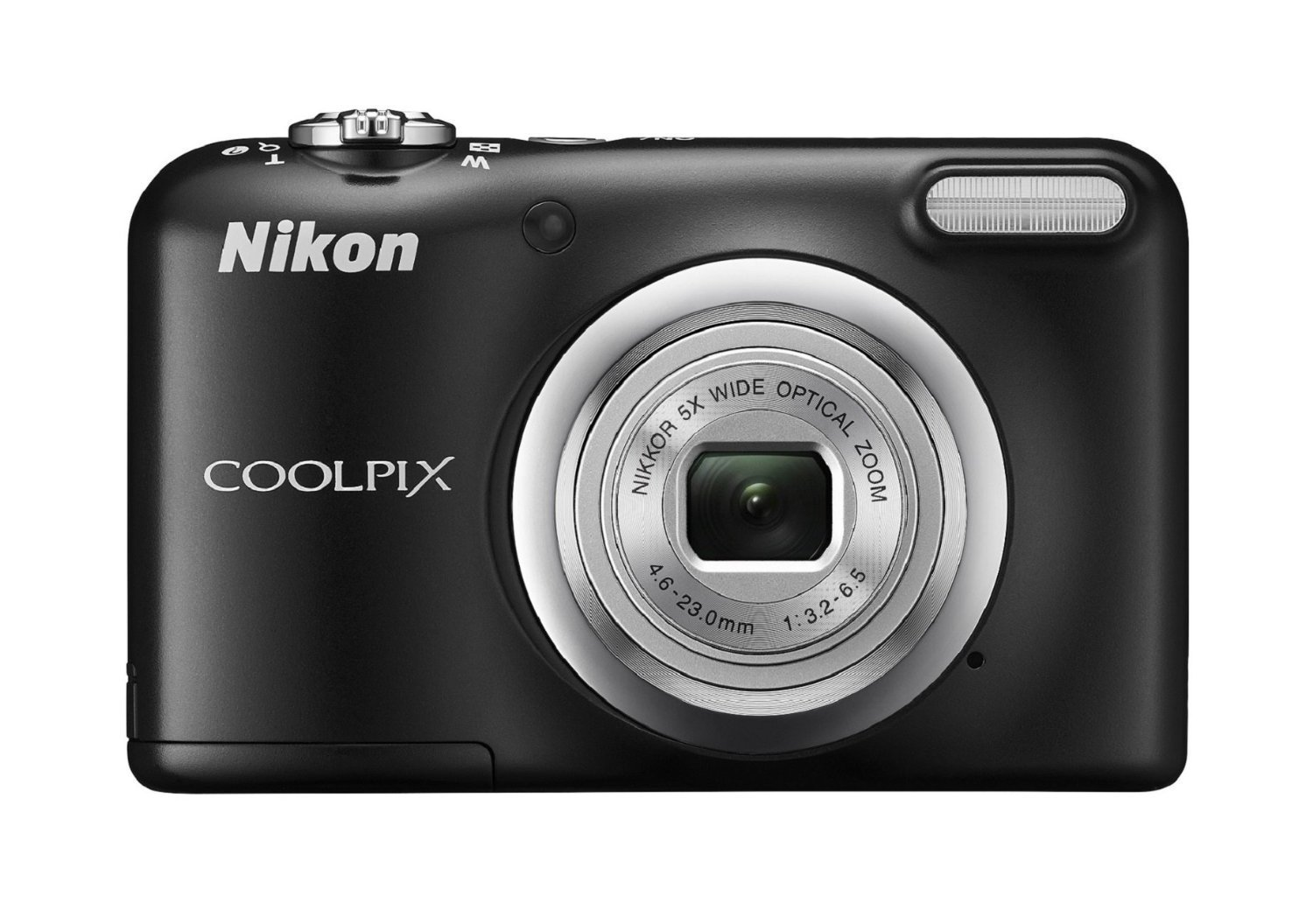 Nikon Coolpix A10 Point and Shoot Digital Camera (Black) with 16GB Memory Card, Camera Case and Rechargeable Batteries
