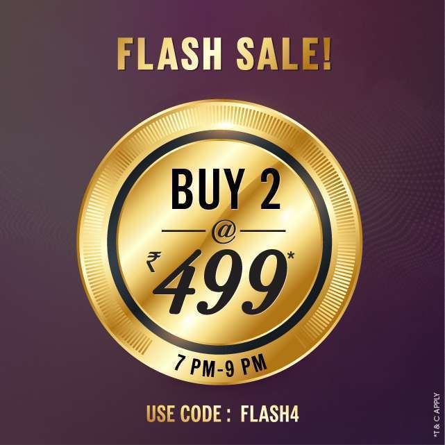 NNNOW- Flash Sale Buy 2 @ Rs.499 + Free Shipping