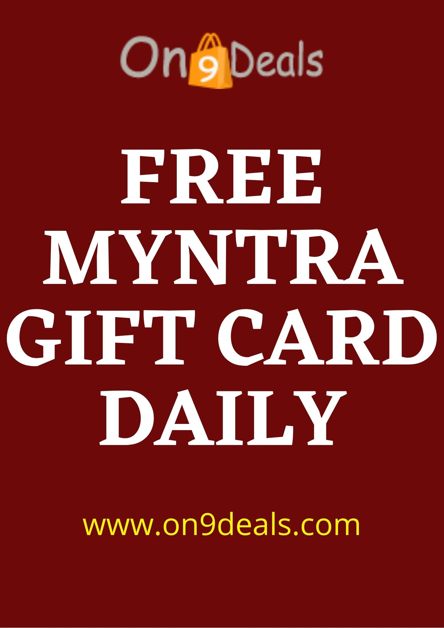 On9deals Giveaway 4th May - Free Myntra Gift Card Voucher Worth Rs.50