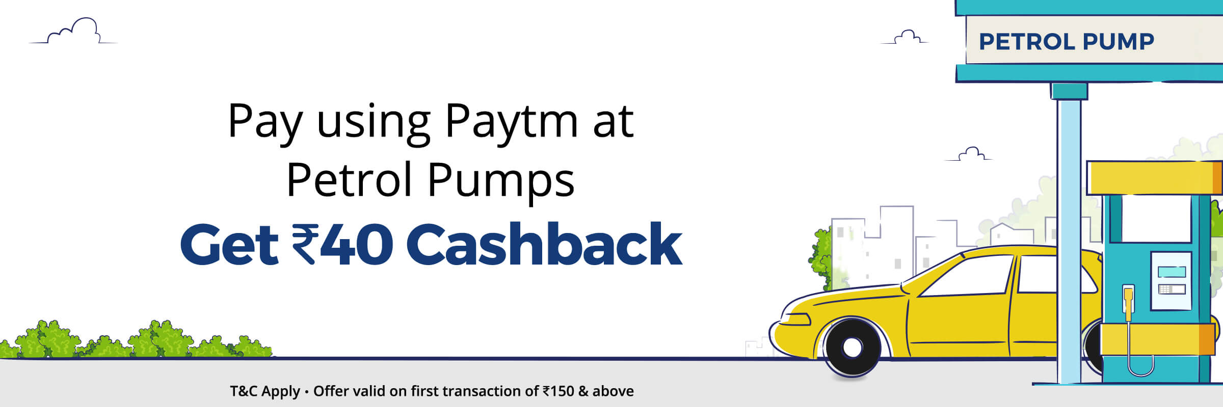 Paytm - Rs.40 Cashback at Petrol Pumps in Mumbai