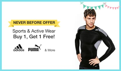 PaytmMall : Buy 1 get 1 free offer on Sportswear Activewear