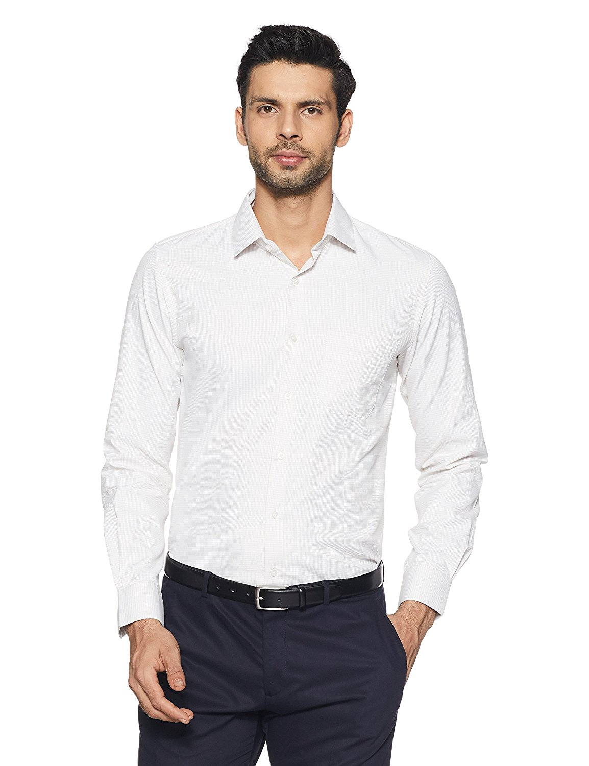 Peter England Men's Plain Formal Shirt Upto 60% Discount Starting From Rs.499