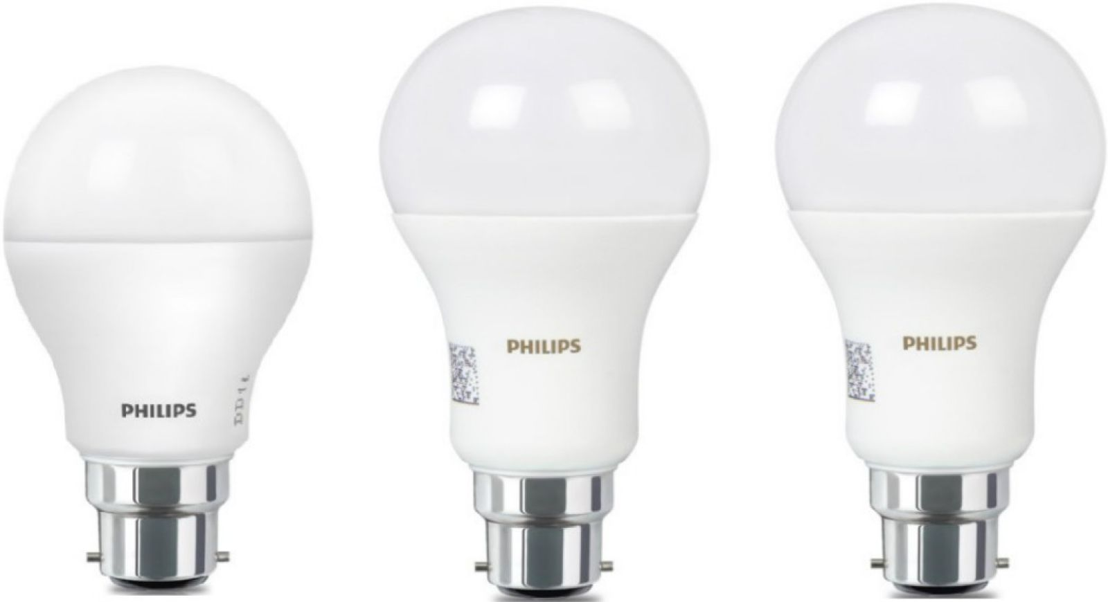 Philips 16 W Pack of 2 + 9 W Standard B22 pled