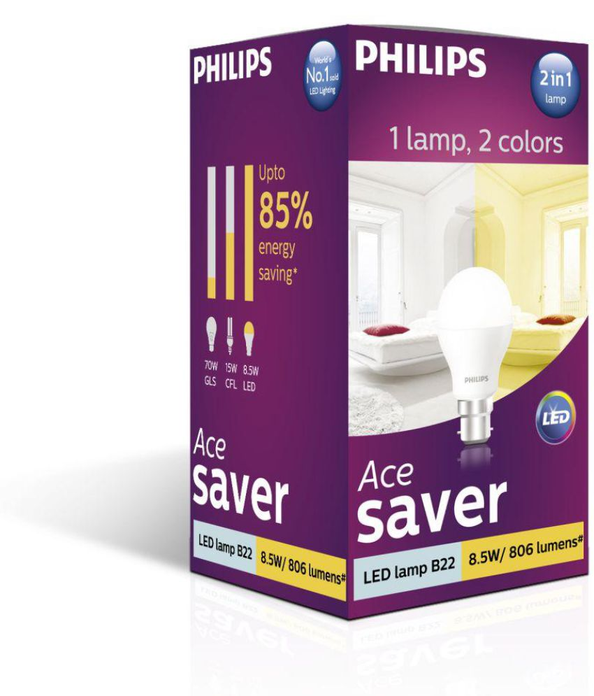 Philips 8.5W 2-in-1 LED Bulb Dual Shine Pack of 3