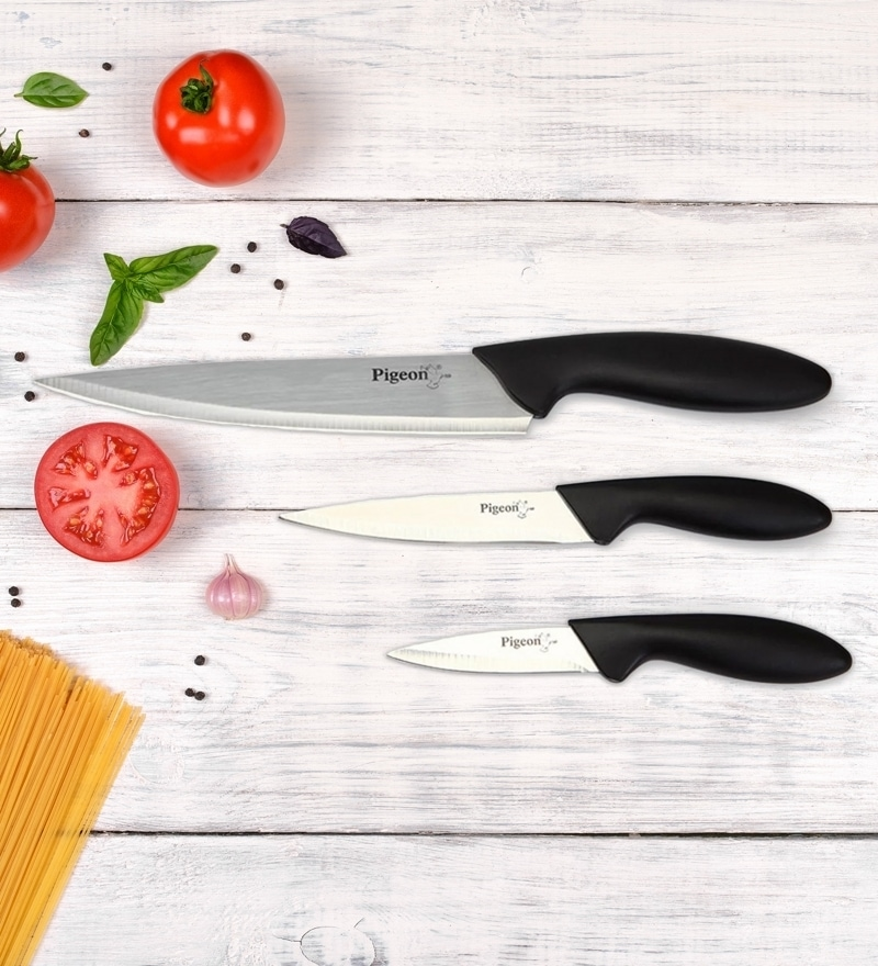Pigeon Aluminium Kitchen Knives Set, 3-Pieces - One time offer