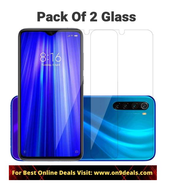 POPIO Tempered Glass Screen Protector For Xiaomi Redmi Note 8