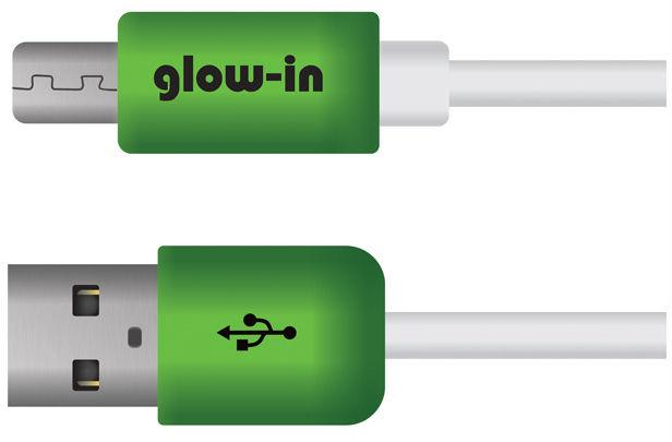 Portronics Glow In Micro USB HD Cable