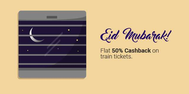 RailYatri - Train Tickets 50% Cashback
