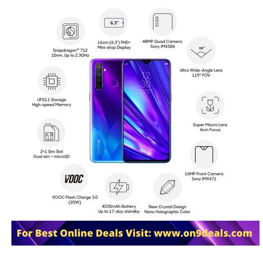 Realme 5 Pro 4Gb Ram 64Gb Storage Quad Cameras @ Rs.10749 For HDFC Users